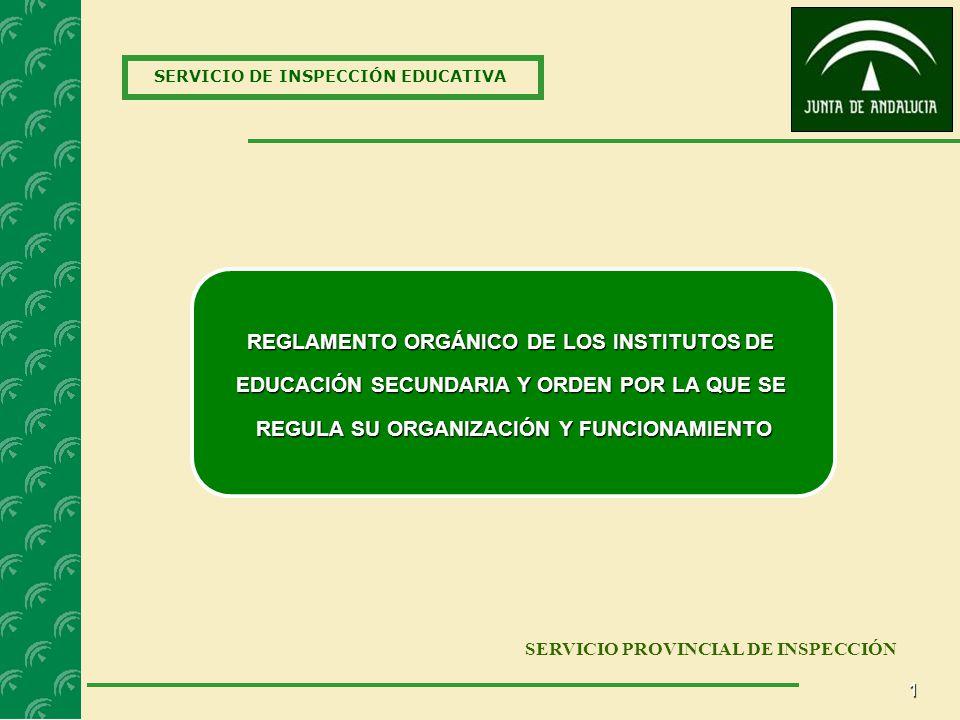 REGLAMENTO ORGÁNICO DE LOS INSTITUTOS DE