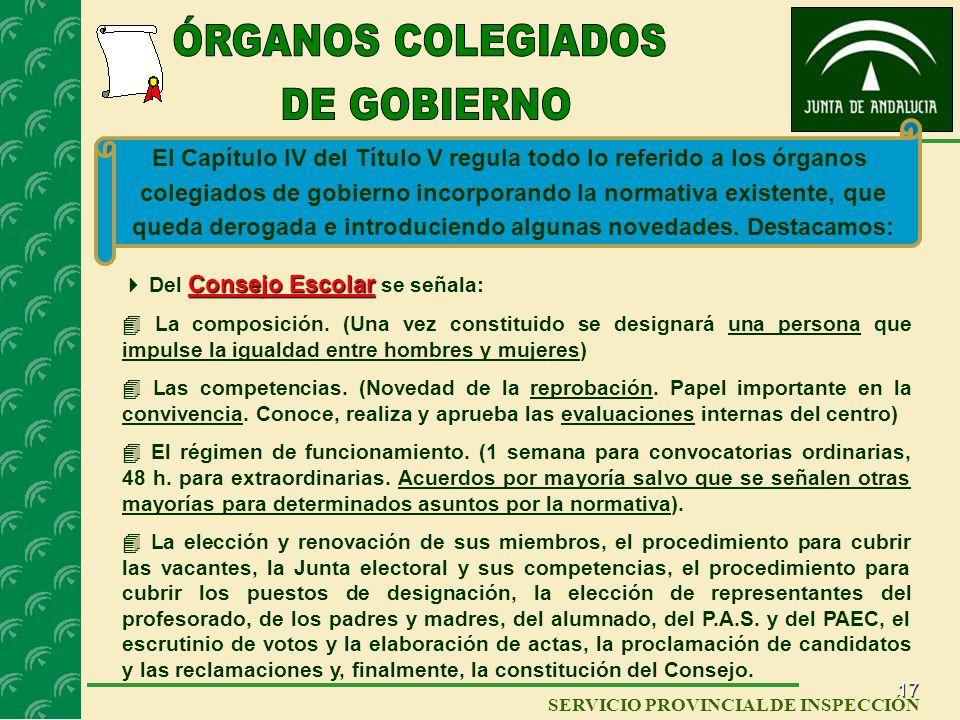 ÓRGANOS COLEGIADOS DE GOBIERNO