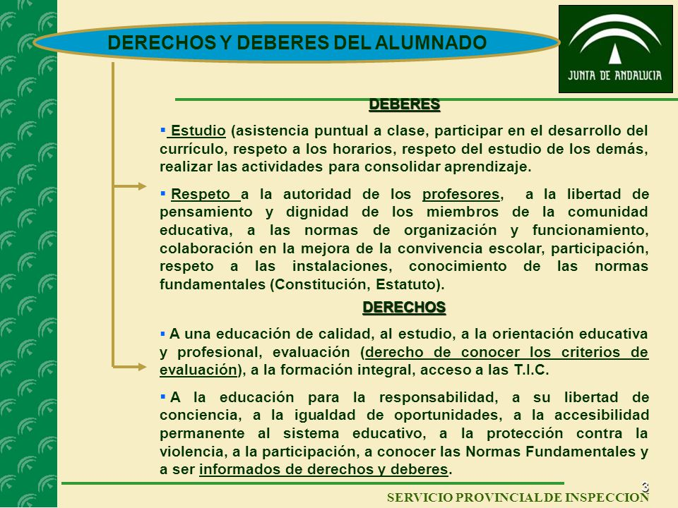 DERECHOS Y DEBERES DEL ALUMNADO