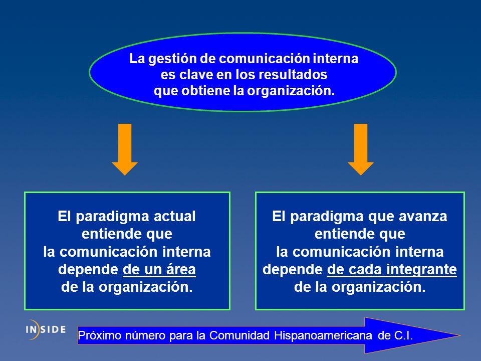 la comunicación interna depende de un área de la organización.