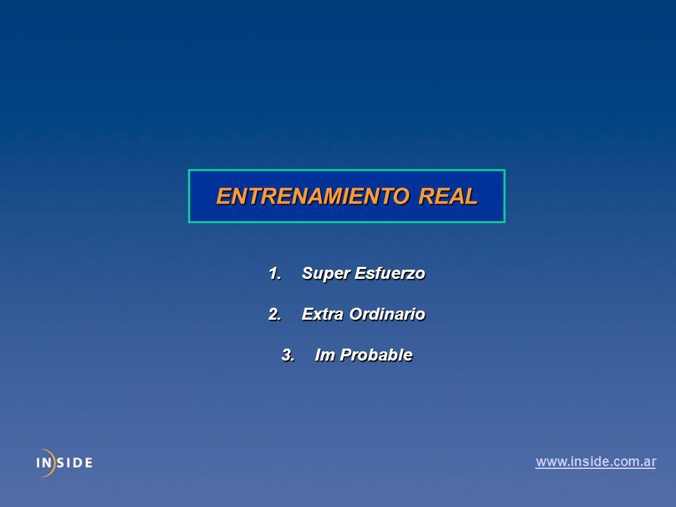 ENTRENAMIENTO REAL Super Esfuerzo Extra Ordinario Im Probable