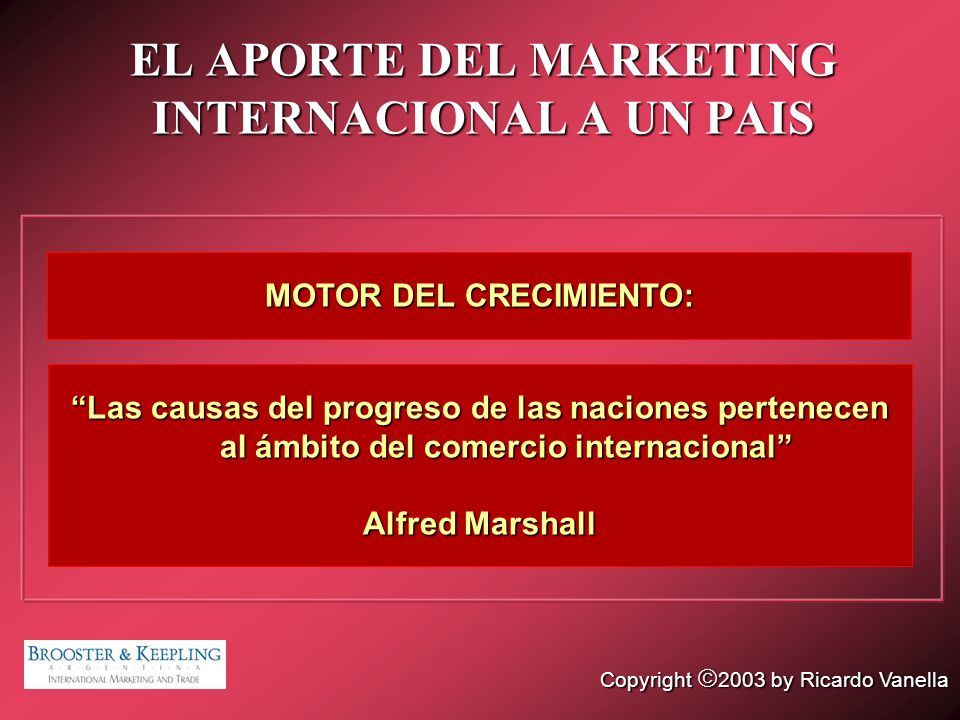EL APORTE DEL MARKETING INTERNACIONAL A UN PAIS