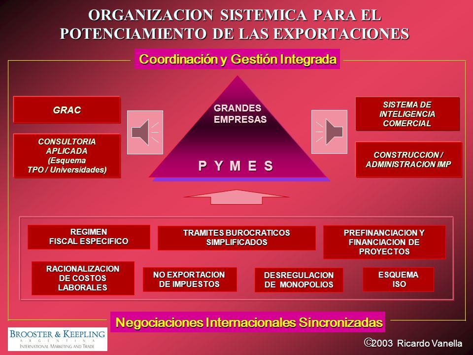 ORGANIZACION SISTEMICA PARA EL POTENCIAMIENTO DE LAS EXPORTACIONES