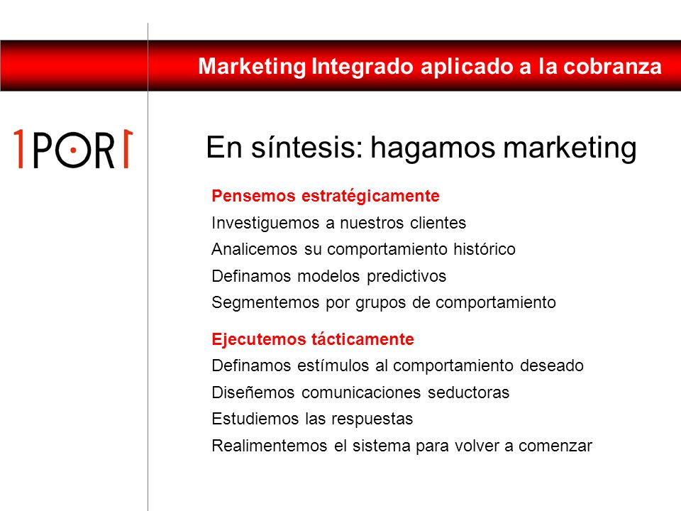En síntesis: hagamos marketing
