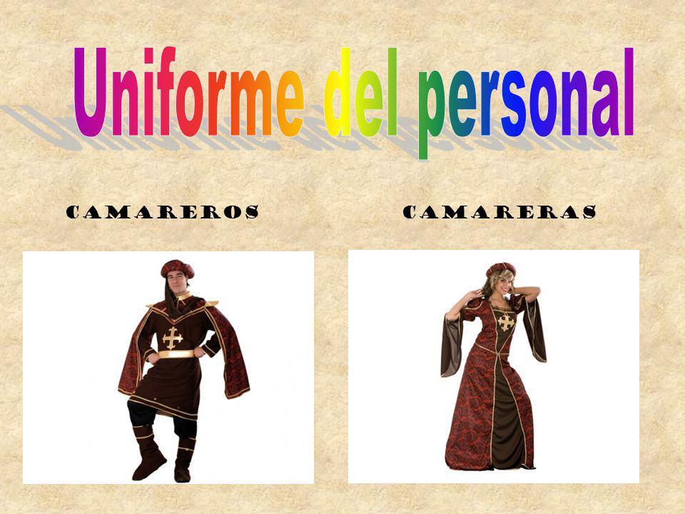 Uniforme del personal Camareros Camareras
