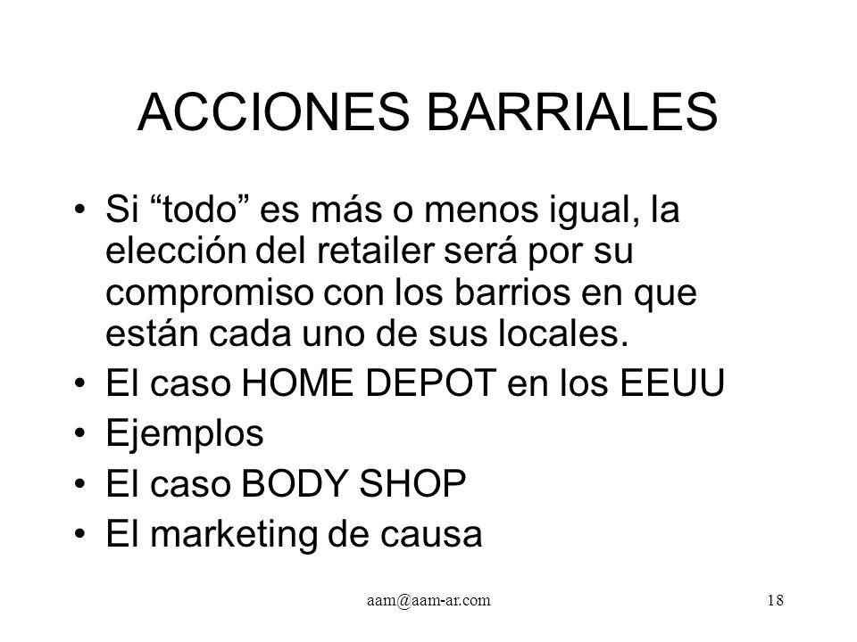 ACCIONES BARRIALES