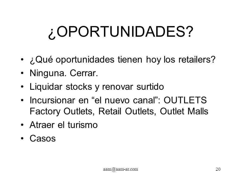 ¿OPORTUNIDADES ¿Qué oportunidades tienen hoy los retailers