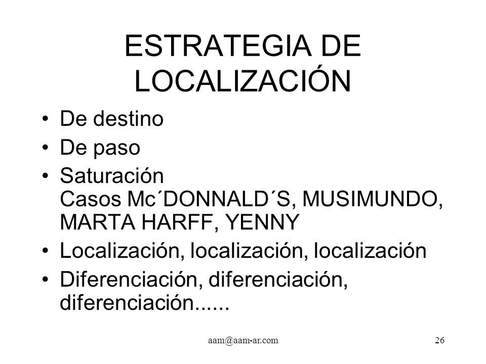 ESTRATEGIA DE LOCALIZACIÓN