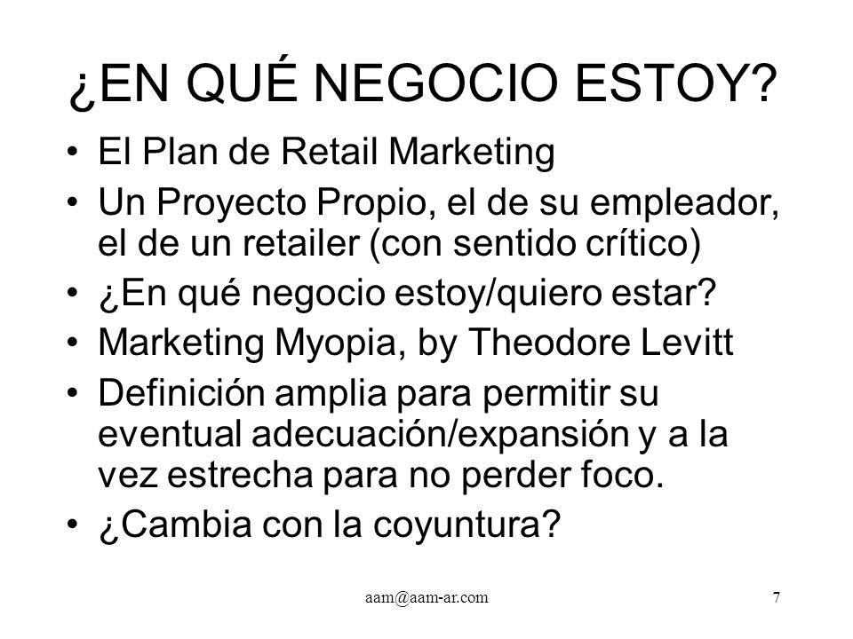 ¿EN QUÉ NEGOCIO ESTOY El Plan de Retail Marketing