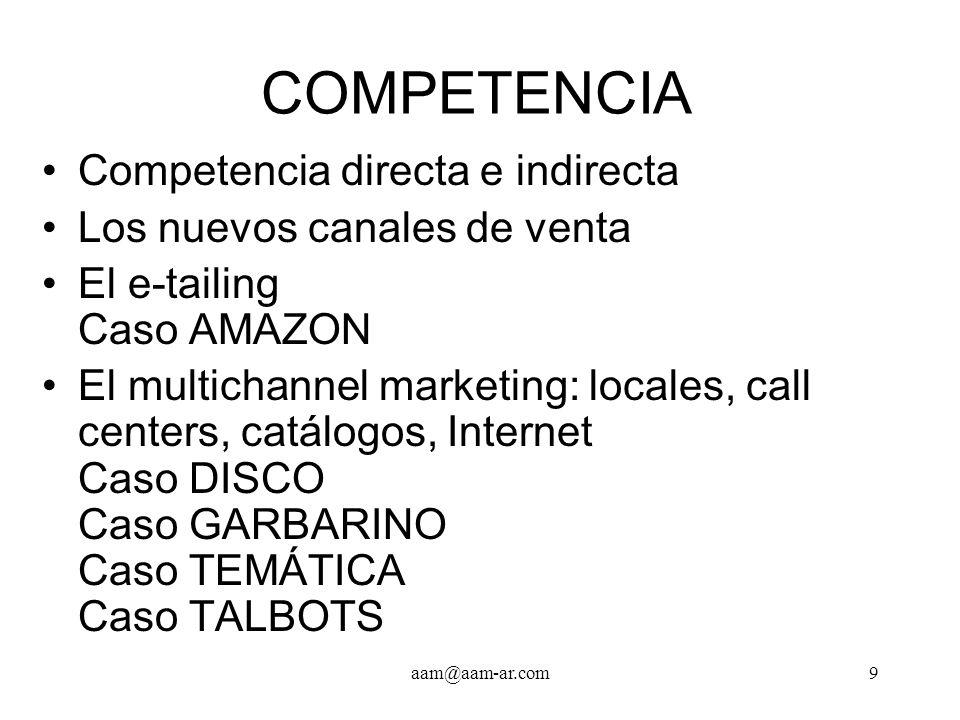 COMPETENCIA Competencia directa e indirecta