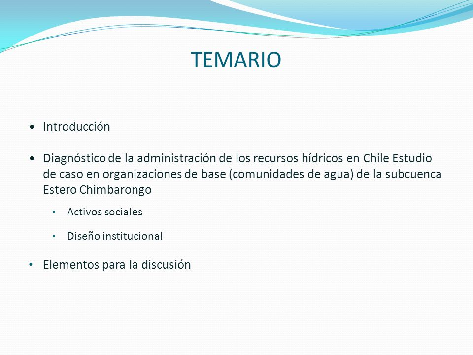 TEMARIO Introducción.