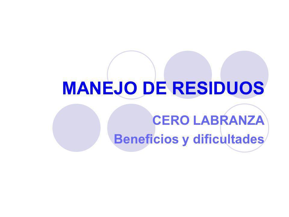 CERO LABRANZA Beneficios y dificultades