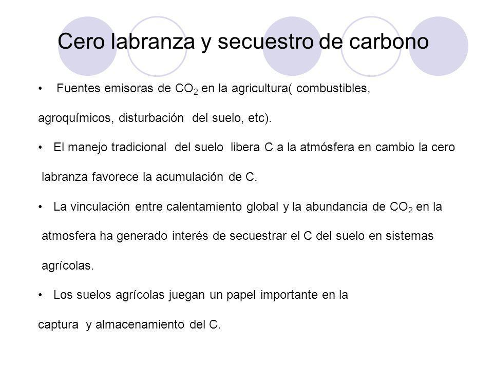 Cero labranza y secuestro de carbono