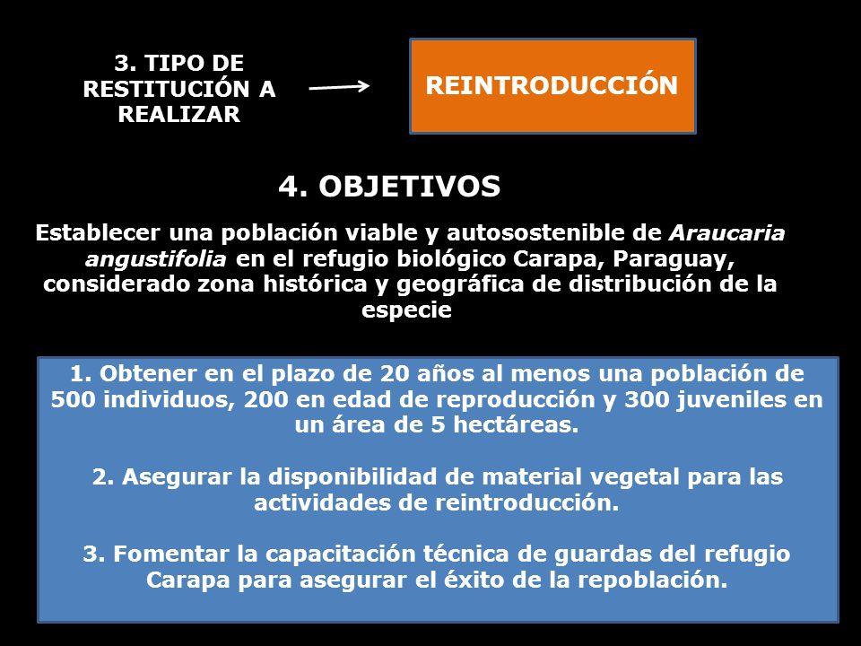 3. TIPO DE RESTITUCIÓN A REALIZAR