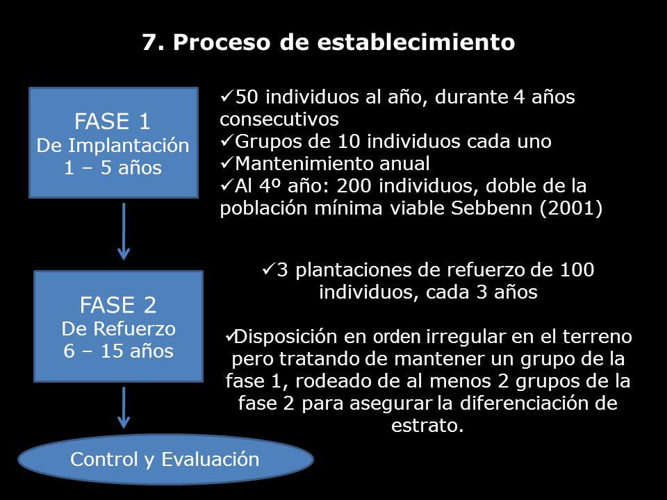 7. Proceso de establecimiento