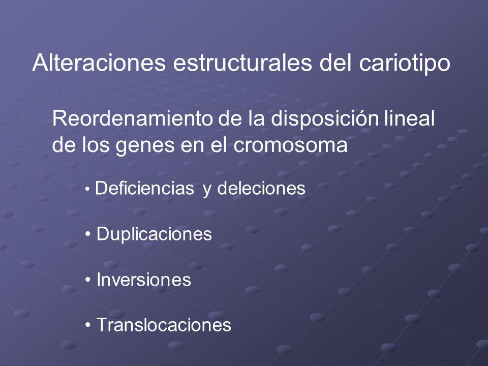 Alteraciones estructurales del cariotipo