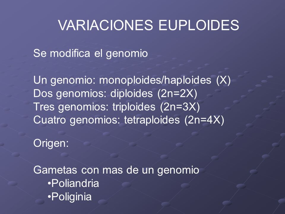 VARIACIONES EUPLOIDES