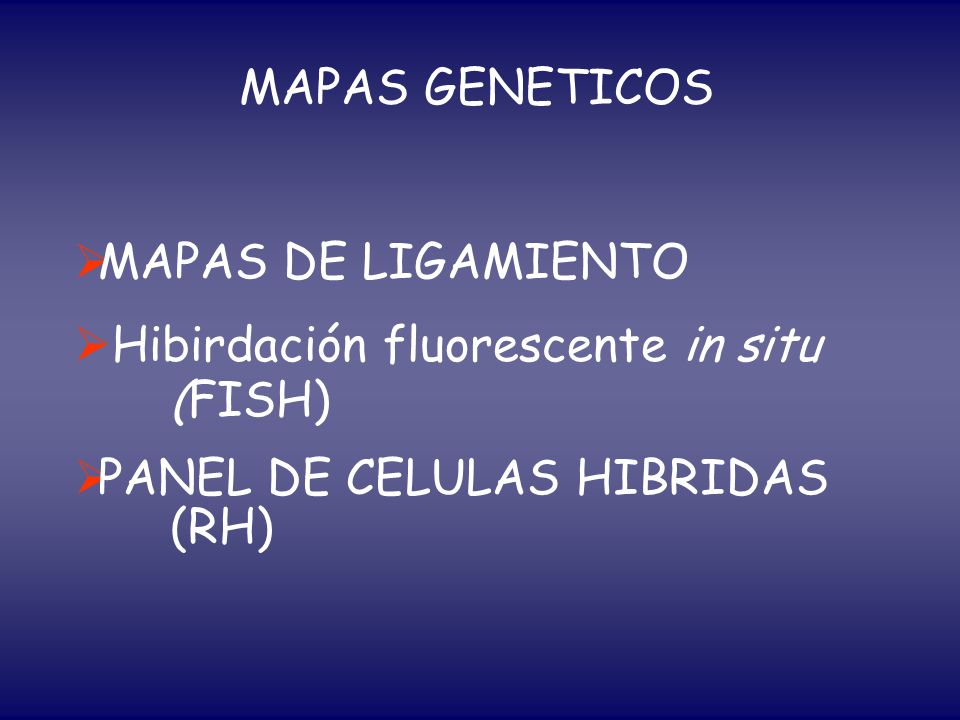 MAPAS GENETICOS MAPAS DE LIGAMIENTO.