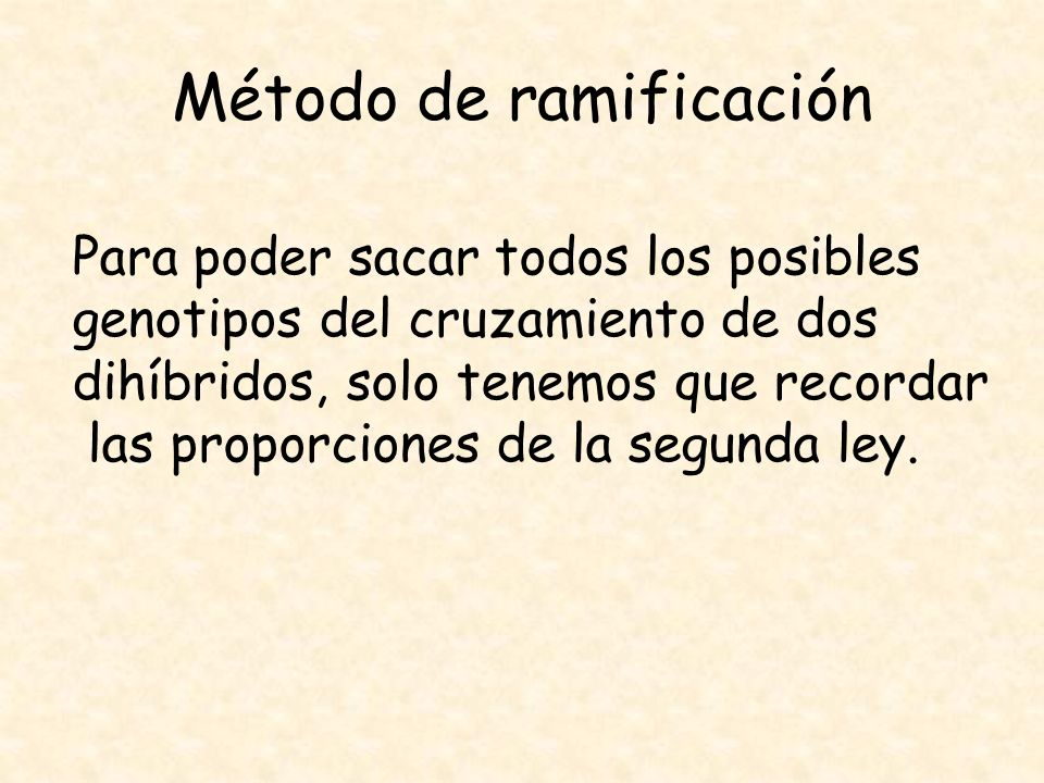 Método de ramificación