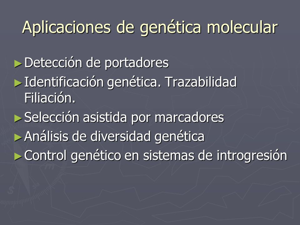 Aplicaciones de genética molecular