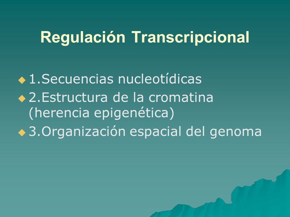 Regulación Transcripcional
