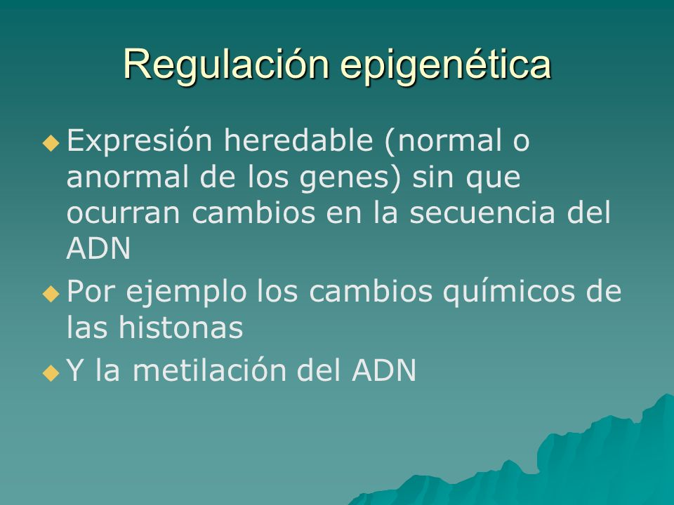 Regulación epigenética