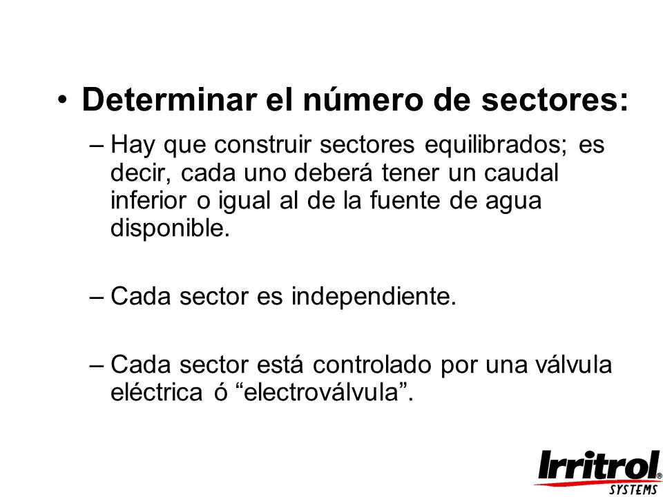 Determinar el número de sectores: