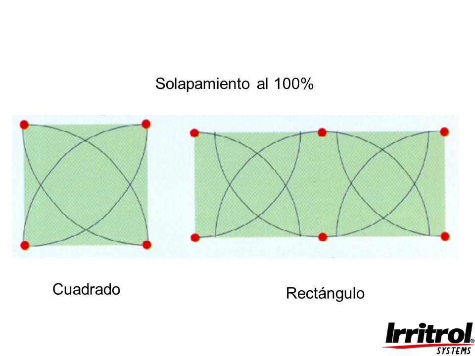 Solapamiento al 100% Cuadrado Rectángulo