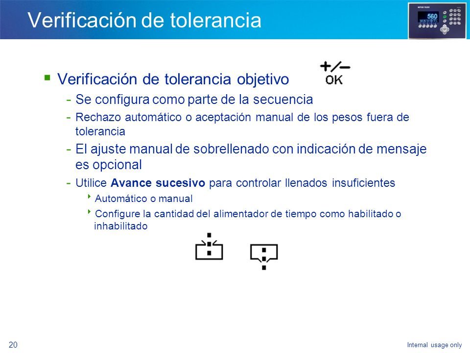 Verificación de tolerancia