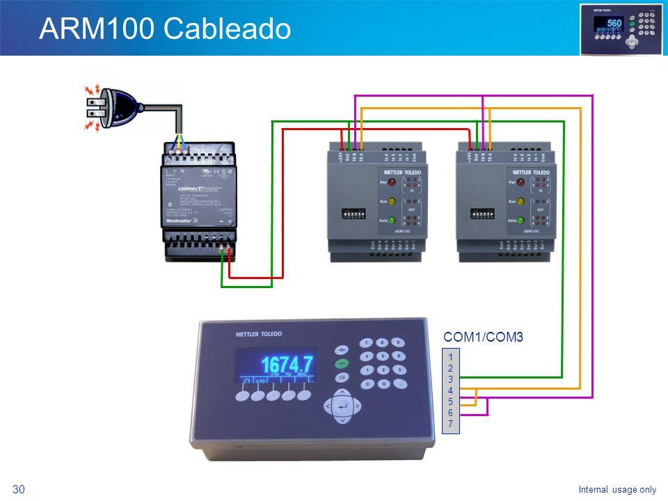 ARM100 Cableado 1 2 3 4 5 6 7 COM1/COM3