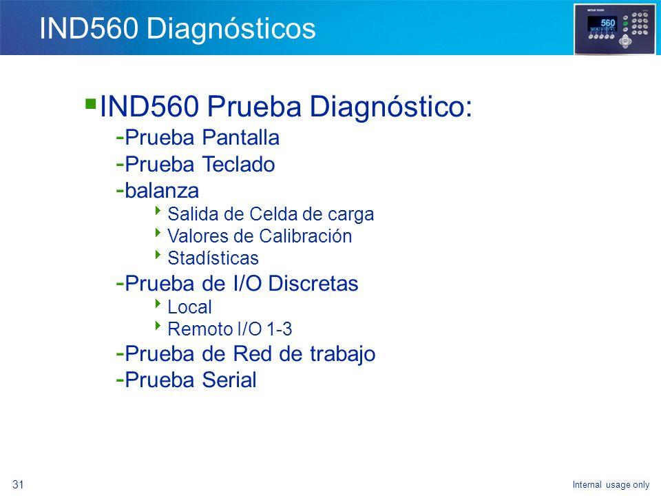 IND560 Prueba Diagnóstico: