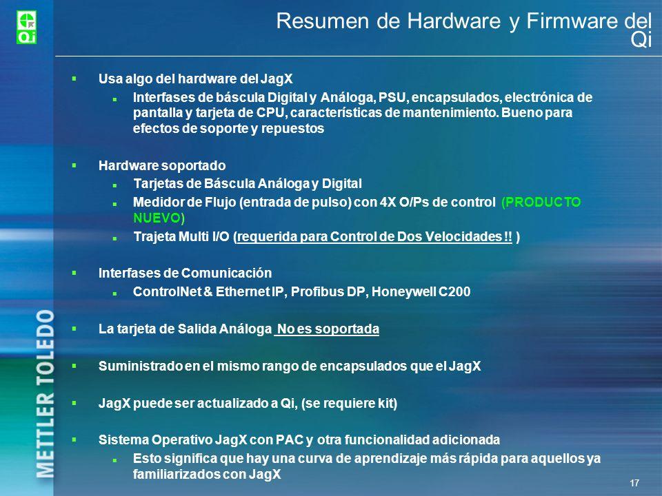 Resumen de Hardware y Firmware del Qi