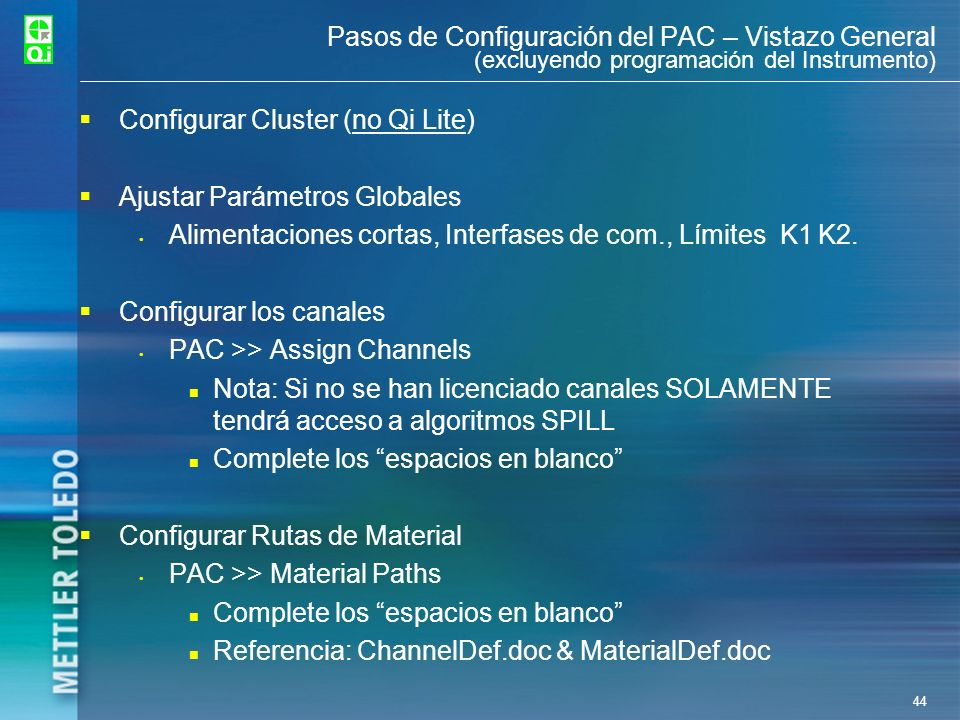Configurar Cluster (no Qi Lite) Ajustar Parámetros Globales