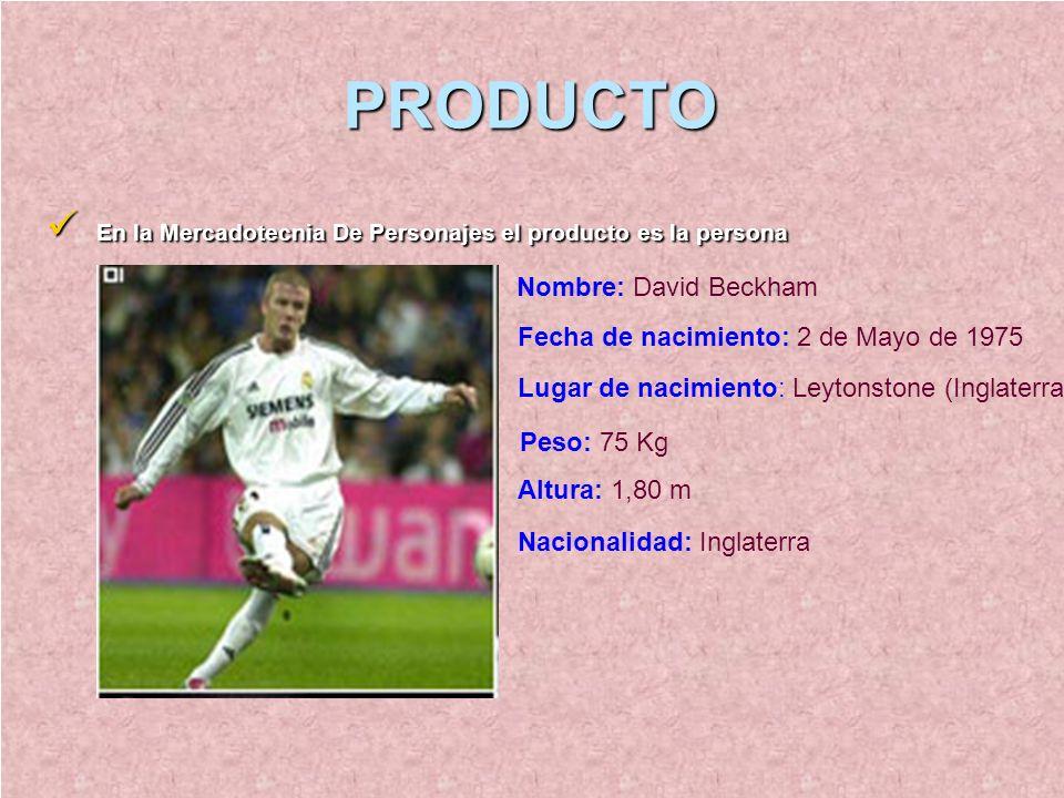 PRODUCTO En la Mercadotecnia De Personajes el producto es la persona