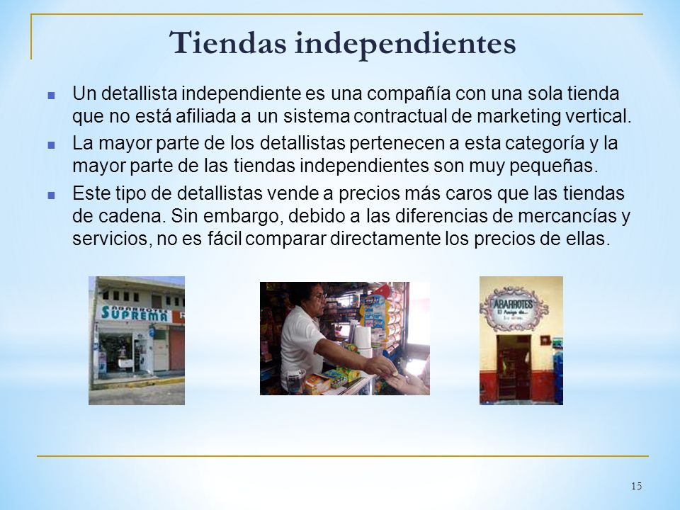Tiendas independientes