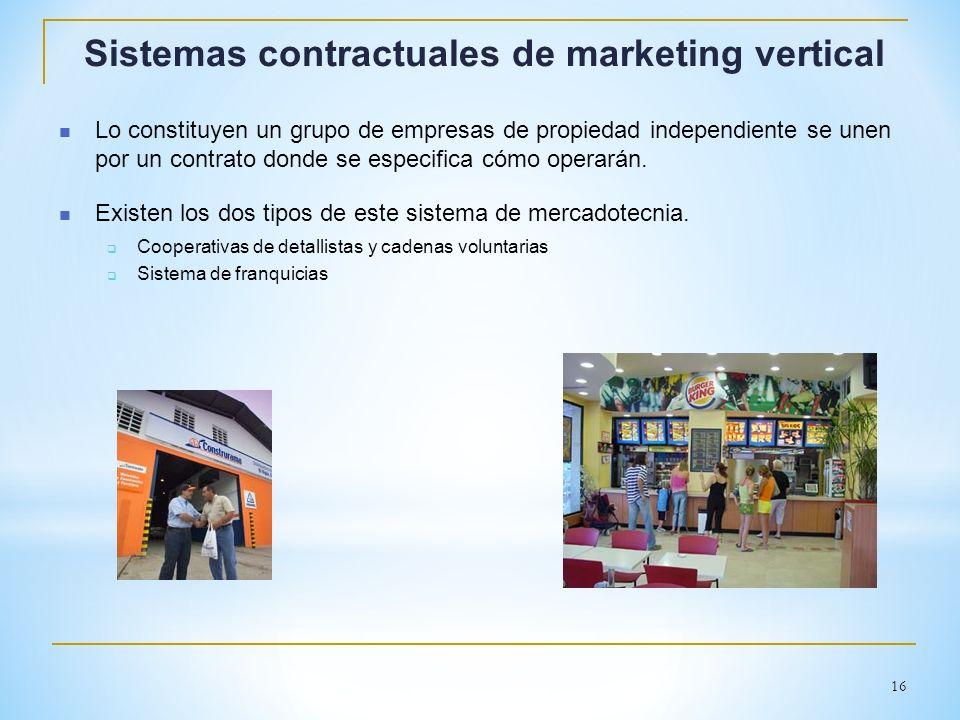 Sistemas contractuales de marketing vertical