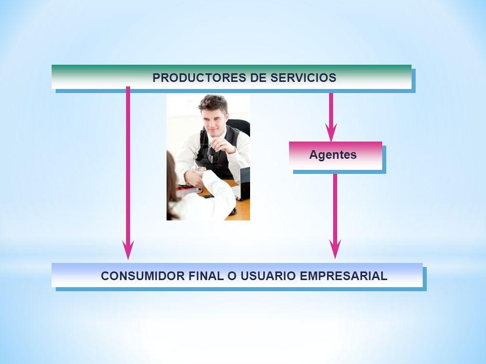 PRODUCTORES DE SERVICIOS CONSUMIDOR FINAL O USUARIO EMPRESARIAL