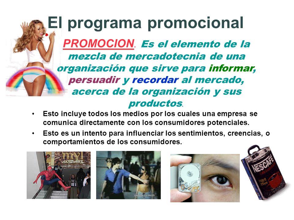 El programa promocional