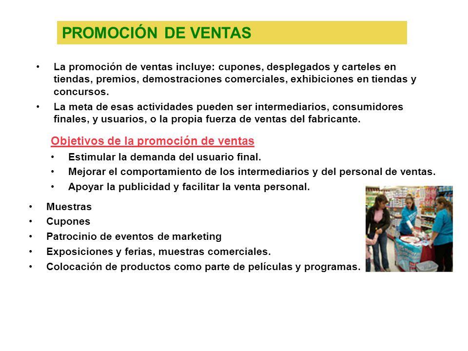 PROMOCIÓN DE VENTAS Objetivos de la promoción de ventas