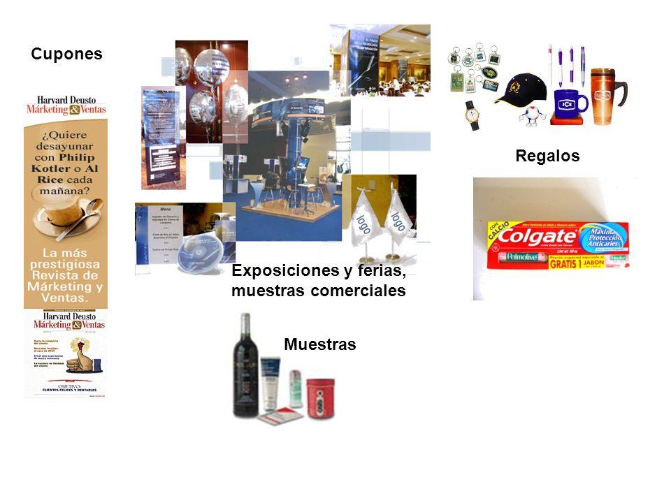 Cupones Regalos Exposiciones y ferias, muestras comerciales Muestras