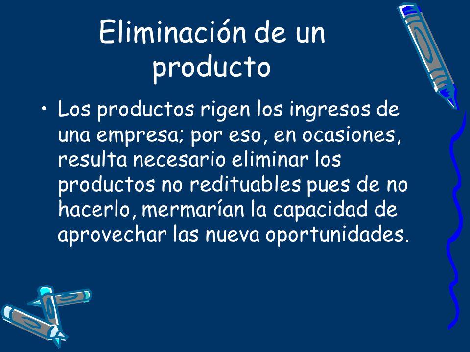 Eliminación de un producto