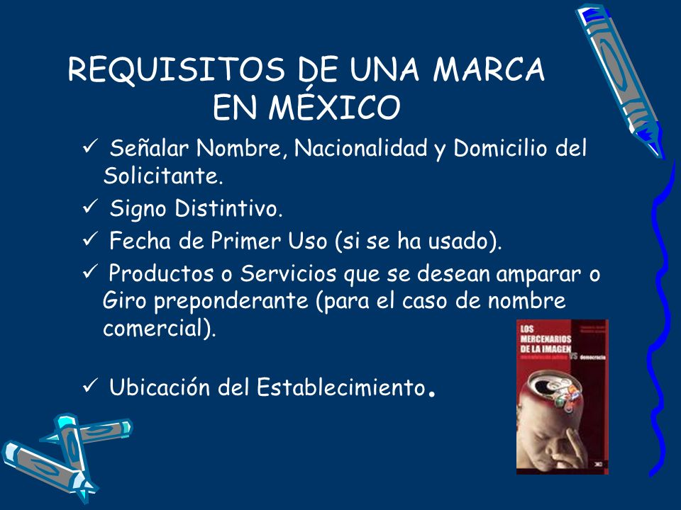 REQUISITOS DE UNA MARCA EN MÉXICO