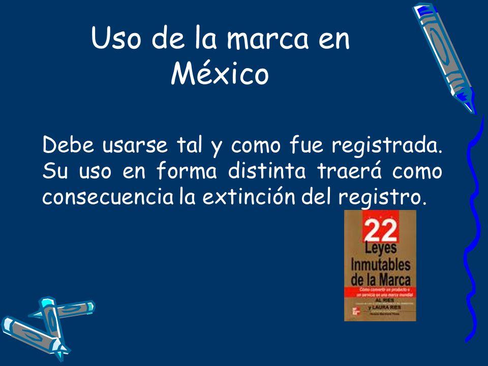 Uso de la marca en México