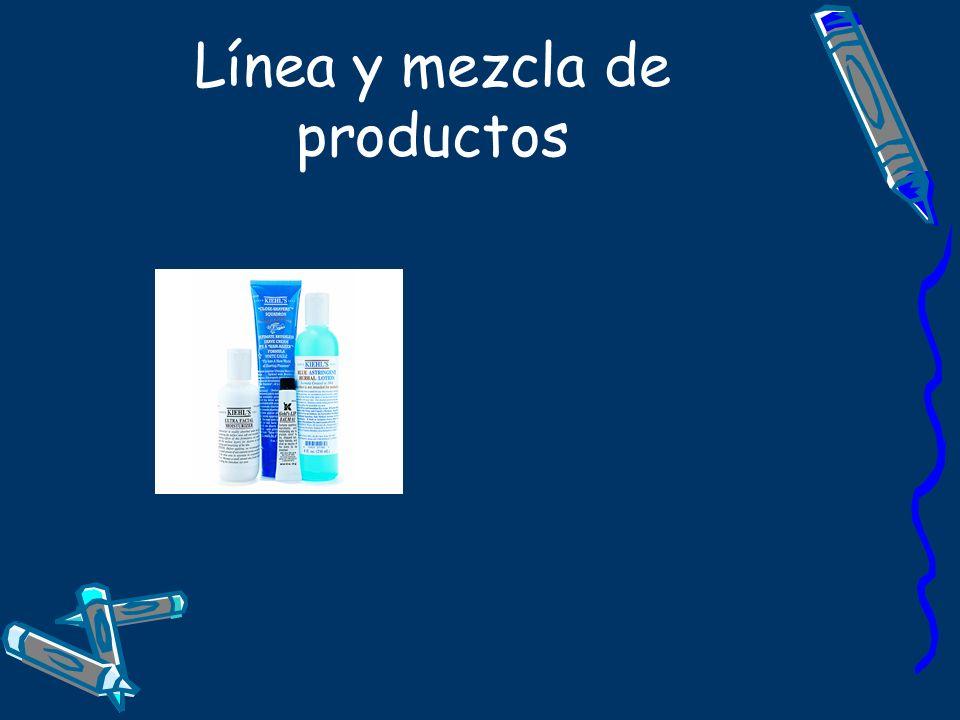 Línea y mezcla de productos