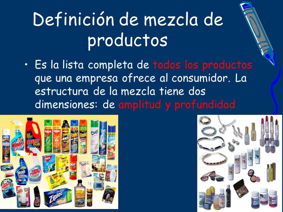 Definición de mezcla de productos