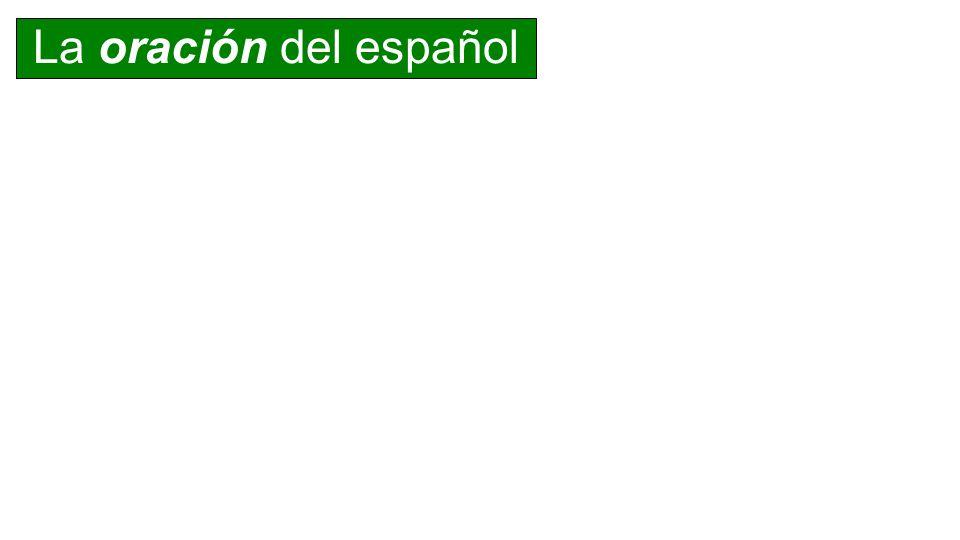 La oración del español