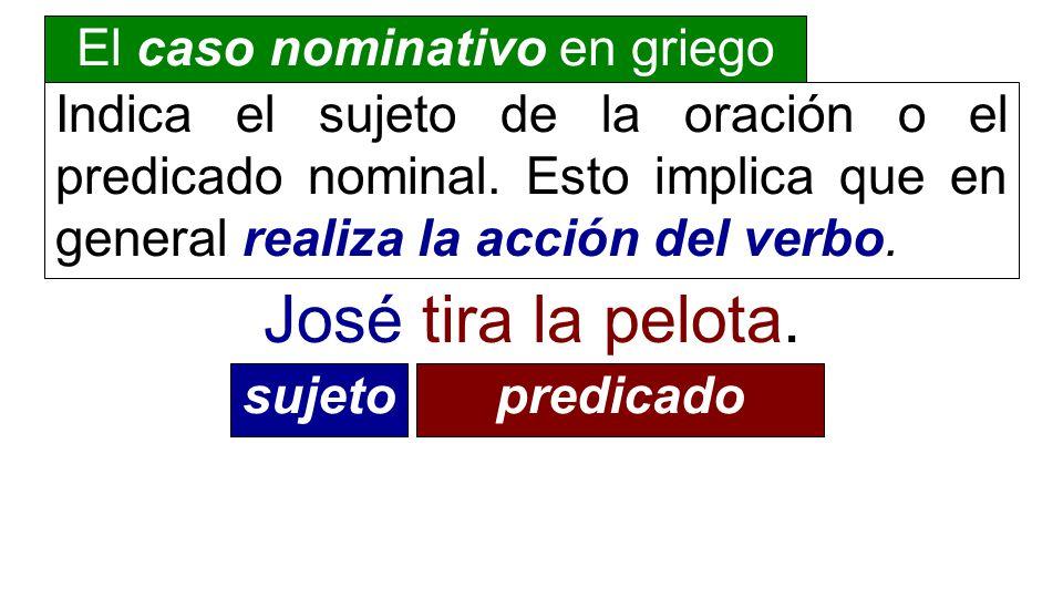 El caso nominativo en griego