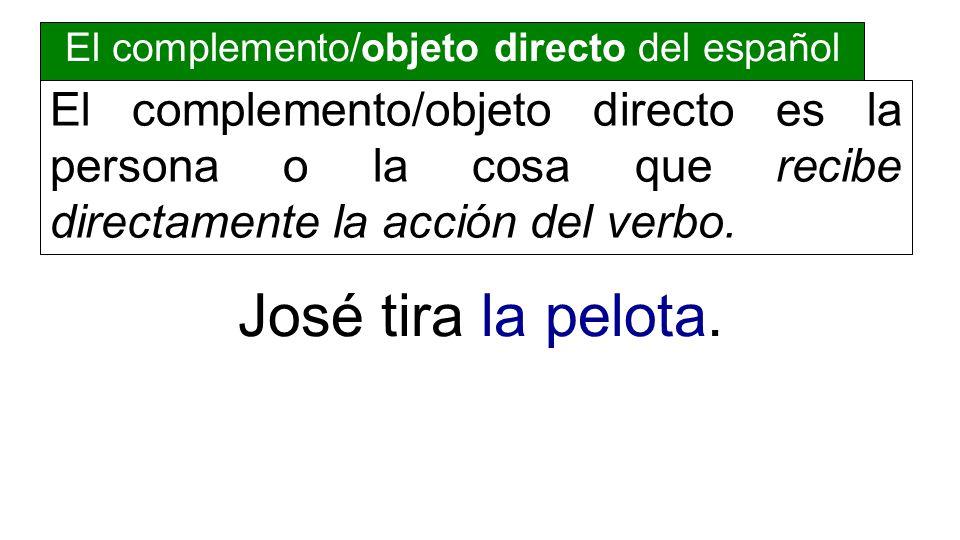 El complemento/objeto directo del español