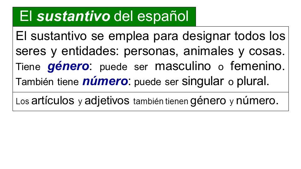 El sustantivo del español