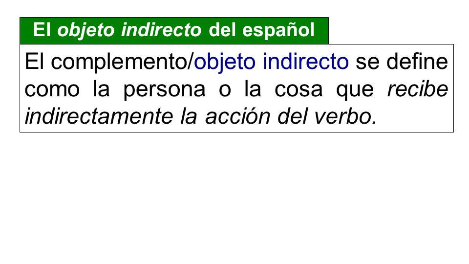 El objeto indirecto del español